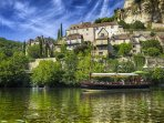 The village of Beynac, voted 'one of the most beautiful village of France', 5km away