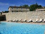 gîte de Busquet piscine chauffée 15m / 6.5 en pleine campagne gersoise calme et tranquillité