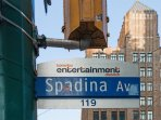 Vibrant neighborhood of King West and Spadina