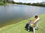 Free fishing on any of the Resorts 3 lakes