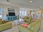 Open Floor Plan: Living Room/Gourmet Kitchen (2nd Floor/Main Floor)