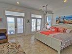Master Bedroom; King Size Bed; 3rd Floor Beach Facing