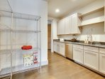 Sizable pantry on main level with kitchenette and plenty of storage