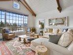 Main level living area awash with natural light