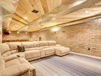 Enormous sectional and lounge area