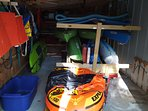 kayak and water toy shed