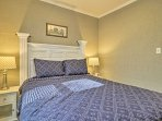 Two guests can share the comfort of this relaxing bedroom.