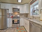 Prepare tasty home-cooked meals in this brilliant fully equipped kitchen.