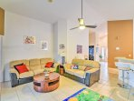 You'll find all your essential comforts in this homey living area.