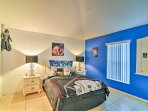 This second master bedroom features a timeless Star Wars theme and private en-suite bathroom.