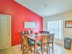 Enjoy a good meal surrounded by great company at this 8-person dining table.