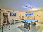 Stay entertained during your downtime by playing a game of air hockey or pool.