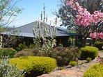 Beautiful established gardens create shade during summer