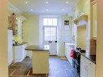 Shaker style kitchen with aga