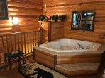 Romantic whirlpool tub
