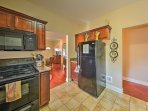Fully equipped, the kitchen is prepared to handle all of your home-cooking needs!