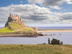The Holy Island of Lindisfarne. Northumberland.