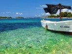 Ort allgemein  -  Boot in einer Bucht der Insel Ciovo