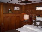 Green Turtle II Master Stateroom with plenty of closet space.