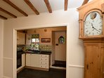 The well equipped kitchen leads off the lounge