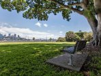 Rushcutters Bay Park just 5 minute stroll