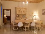 The dining area, cosy and warm in the evening to enjoy dining with your friends and family