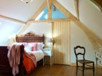 The comfortable and spacious master bedroom and ensuite, on the top floor