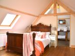 The light filled master bedroom and ensuite with fantastic views on both sides, on the top floor