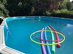 Sun and swimming pool fun