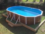 Ecologically heated pool fun for all the family  complete with safety enclosure
