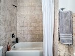 Enjoy a soak in the tub or a quick rinse in the shower.