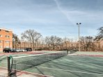 Challenge a loved one to a friendly match of tennis.