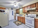 Prepare a seaside feast in the fully equipped kitchen.