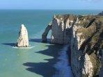 Spectacular cliffs of Etretat