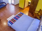 Comfortable bed with 3 piece en-suite bathroom.