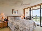 After watching the sun set over the horizon, walk right into the master bedroom for some shuteye.