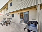 Enjoy a family barbecue on he private back patio.