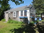 Exterior -Private Outdoor shower - enclosed with hot and cold water-567 Main Street Unit 5 Harwich Port Cape Cod New...