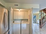 The laundry room adds unbeatable convenience for those traveling with kids.