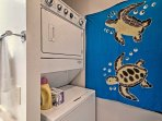 Keep the sand out of your clothes with in-unit laundry machines.