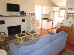 Enter the Cottage into this cozy open living space-View to Kitchen and Dining/Sun Room - 567 Main Street Unit 5 Harwich...