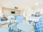 2nd floor- Reverse floor plan...Open-concept...Kitchen and living areas.