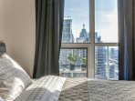 King bed, memory foam mattress and all 5-star hotel signature bedding linens