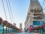 Rogers Centre is across from the building