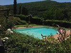 refreshing pool nestled in the serene Chianti countryside