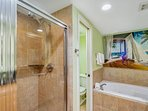 Master bath with walk in shower 1-908 east