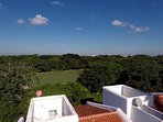 View over Casa Selva Caribe of the golf course
