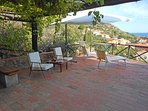 Villa Calypso, terrace with spectacular sea view