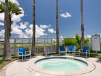 Large jacuzziw/wind block,  Private guest laundry facilities,