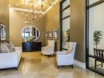 The elegant entry foyer at The Residences welcomes you as you come and go.